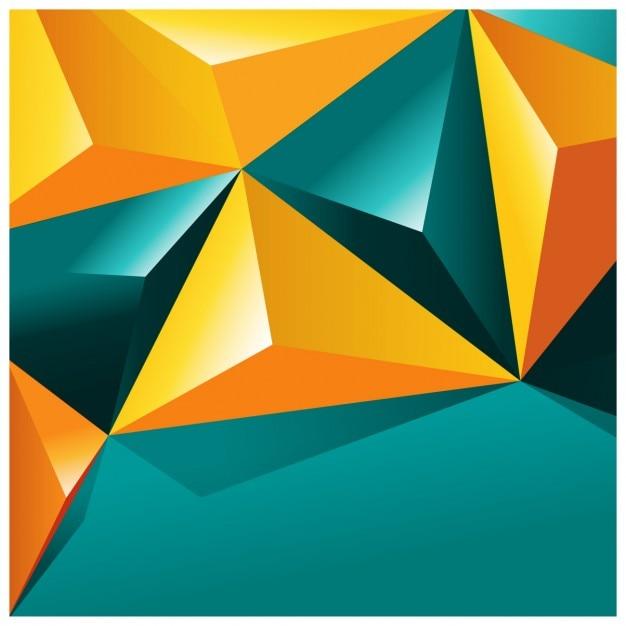 Colorido formas poligonais fundo Vetor grátis