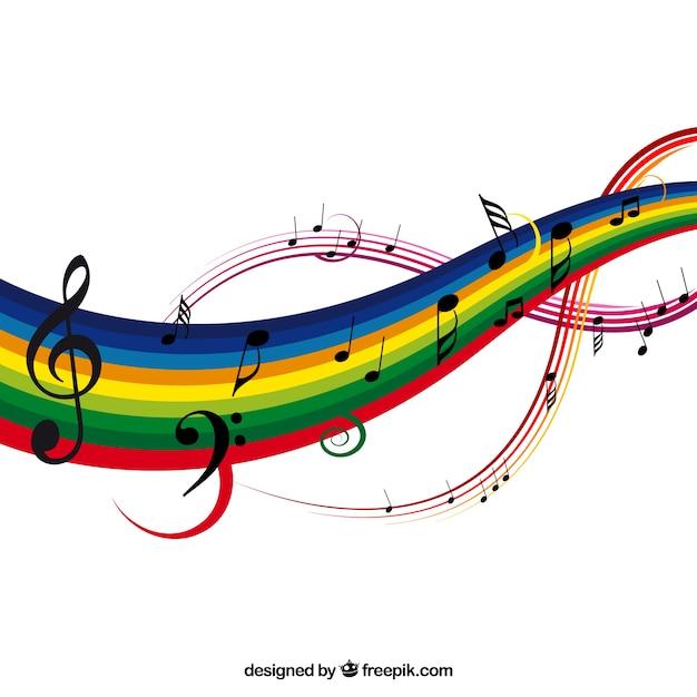 Colorido música ilustração vetorial fundo Vetor grátis