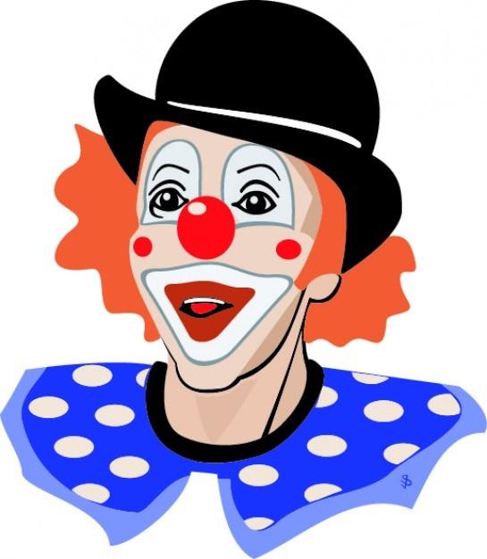 Colorido palhaço feliz do ícone do vetor Vetor grátis