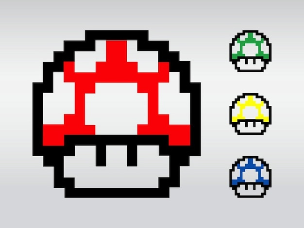 Colorido Super Mario Jogo Do Vetor