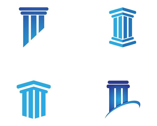 Coluna logo template Vetor Premium