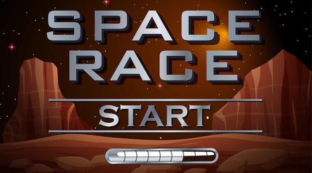 Começo da corrida espacial Vetor Premium