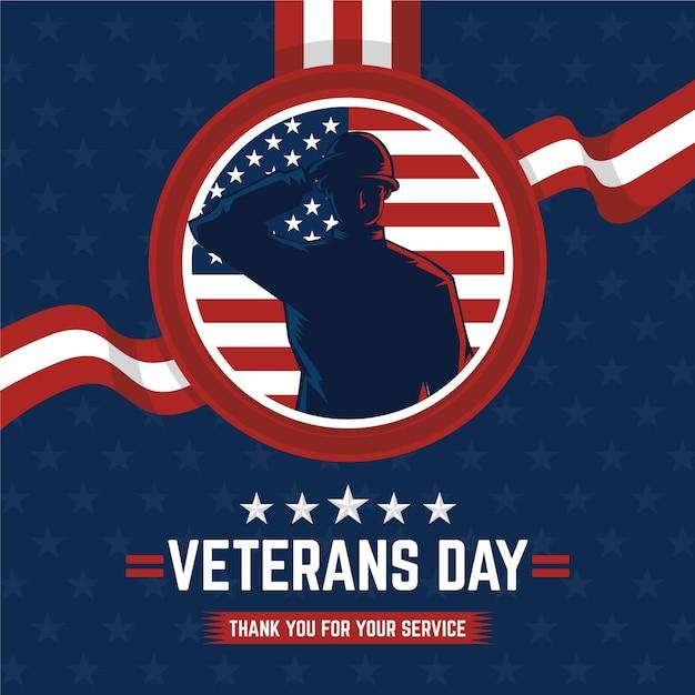Comemoração do dia dos veteranos Vetor Premium