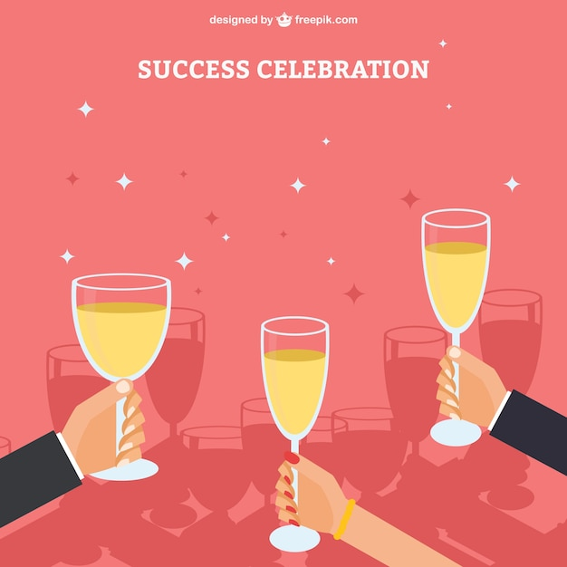 Comemoração sucesso Vetor grátis