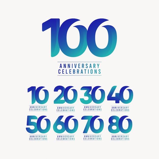 Comemorações aniversário modelo design ilustração Vetor Premium