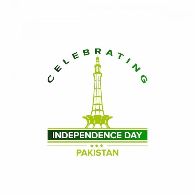 Comemore o dia da independência do paquistão Vetor Premium