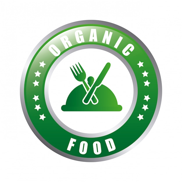 Comida orgânica Vetor Premium