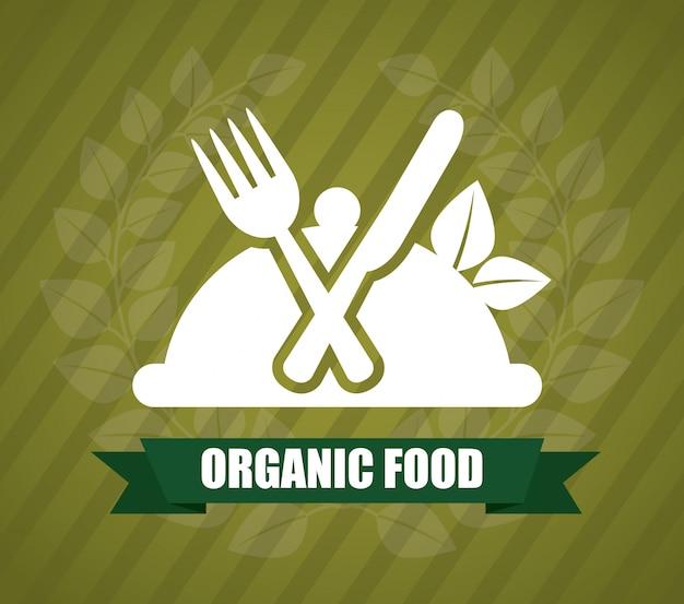 Comida orgânica Vetor grátis