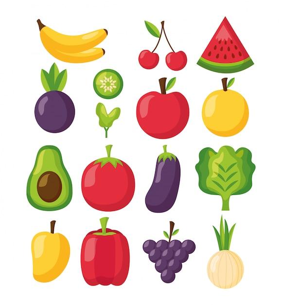 Comida saudável fresca Vetor grátis