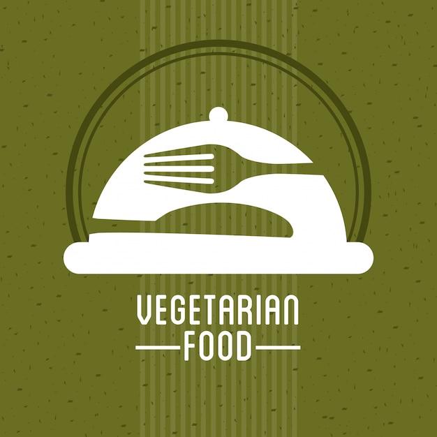 Comida vegetariana Vetor Premium