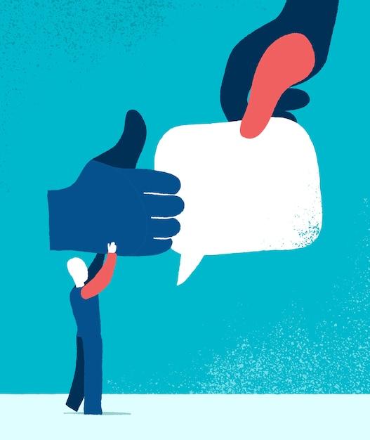 Como e comentários ícone ilustração Vetor grátis
