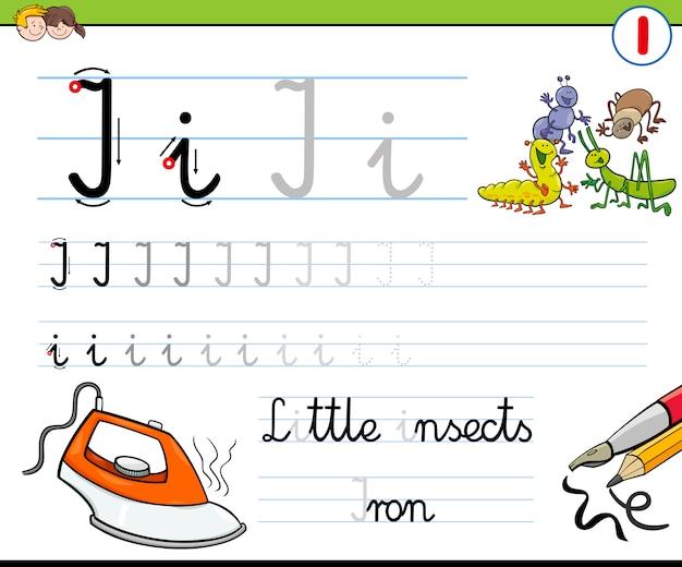 Como escrever a letra i Vetor Premium