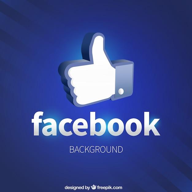 Como facebook ícone do fundo Vetor grátis