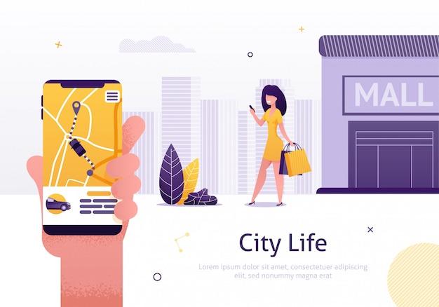 Compartilhamento de carro e serviço de aluguel de página da web do aplicativo móvel Vetor Premium