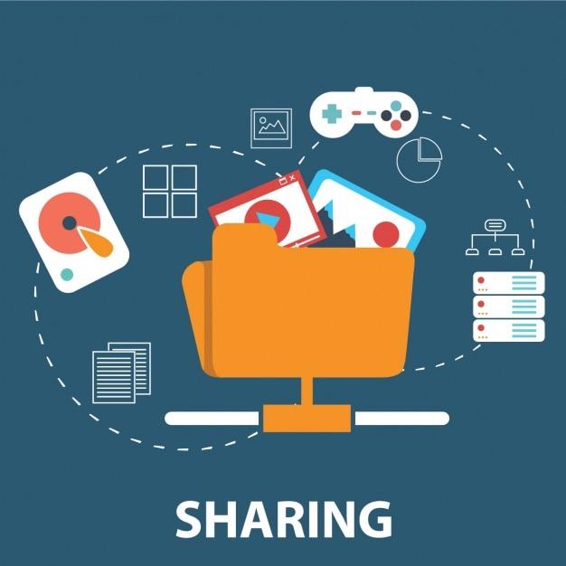 Compartilhar arquivos Vetor grátis