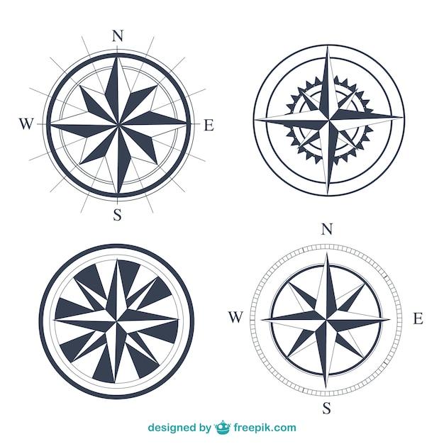 Compassos simples definir Vetor Premium
