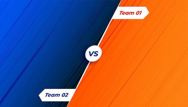 Competição versus fundo em tons de laranja e azul Vetor grátis