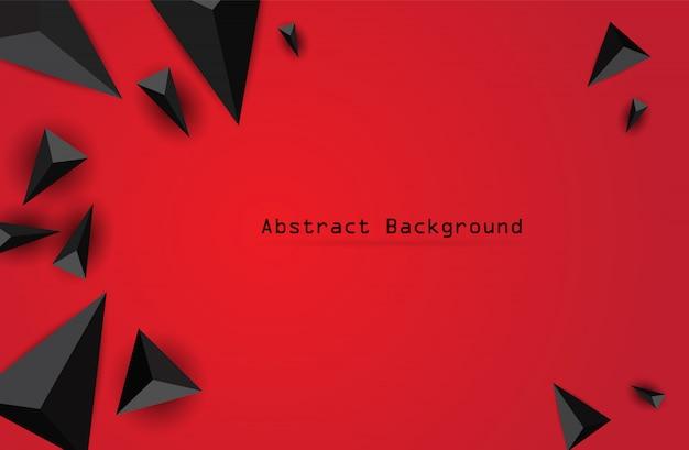 Composição abstrata do triângulo. fundo geométrico moderno Vetor Premium