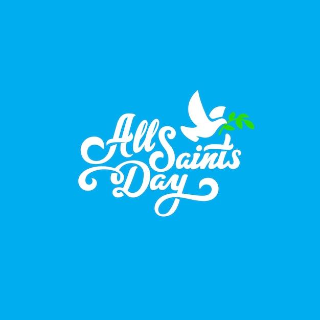 Composição caligráfica de letras de texto para o dia de todos os santos Vetor grátis