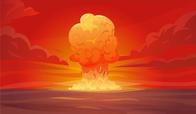 Composição de explosão nuclear Vetor grátis
