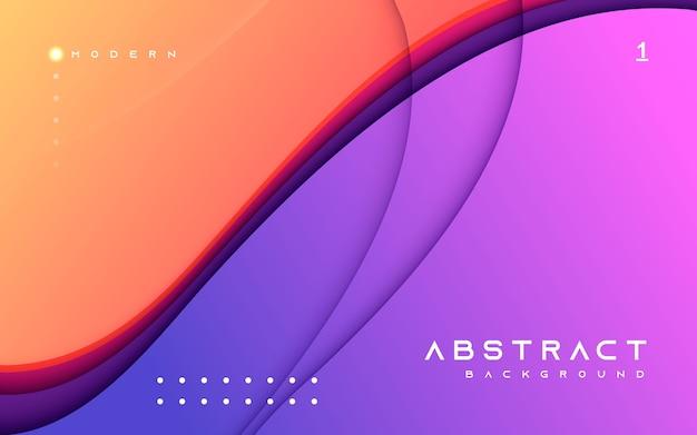 Composição de forma moderna de fundo abstrato colorido Vetor Premium