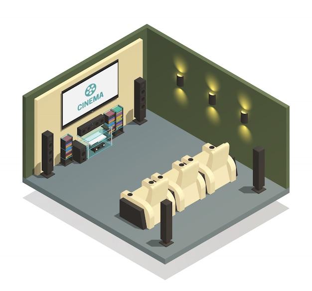 Composição de home theater Vetor grátis