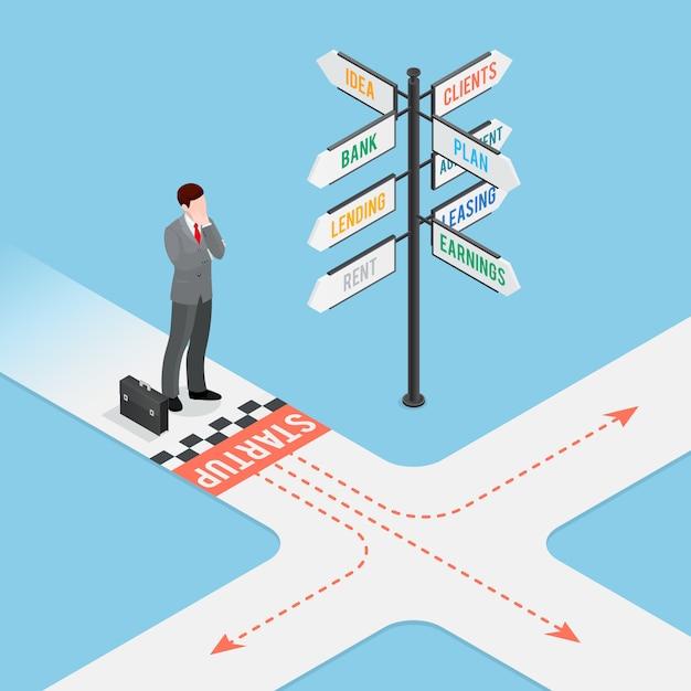 Composição de inicialização de negócios Vetor grátis