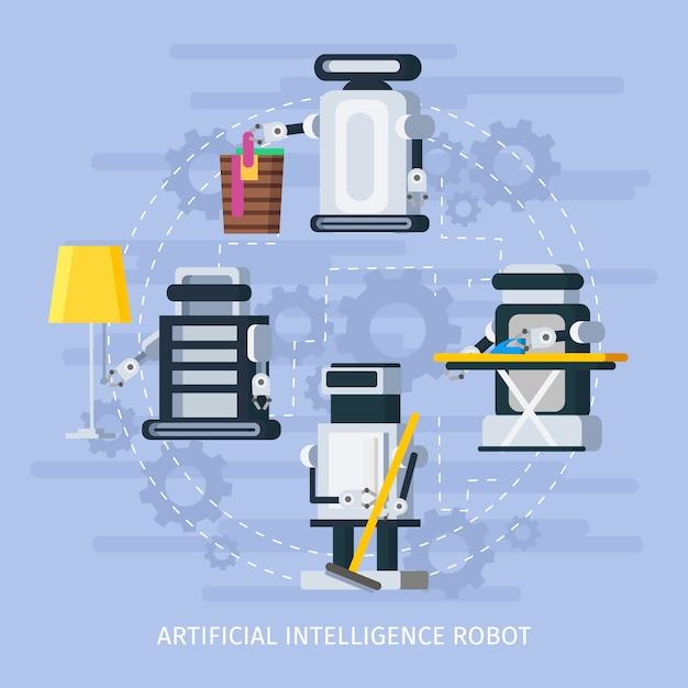 Composição de inteligência artificial Vetor grátis