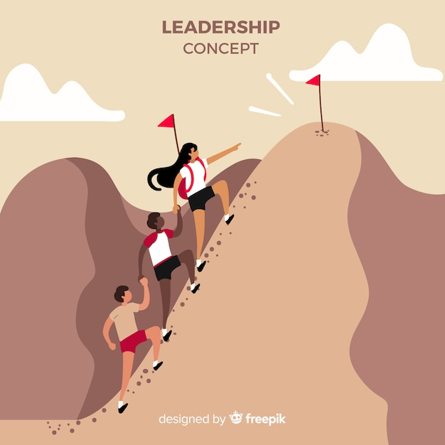 Composição de liderança original mão desenhada Vetor grátis