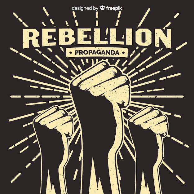 Composição de revolução clássica com estilo grunge Vetor grátis