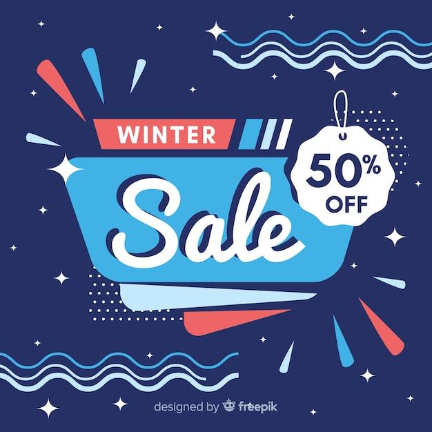 Composição de venda moderna de inverno Vetor grátis