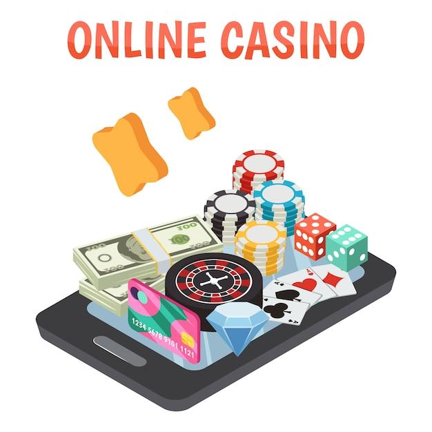 Composição do casino online Vetor grátis