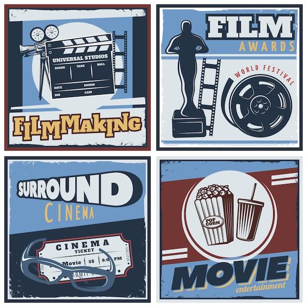Composição do filme surround cinema Vetor grátis