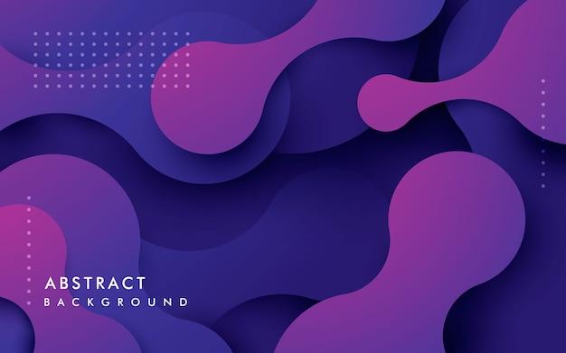 Composição fluida dinâmica de fundo abstrato roxo Vetor Premium
