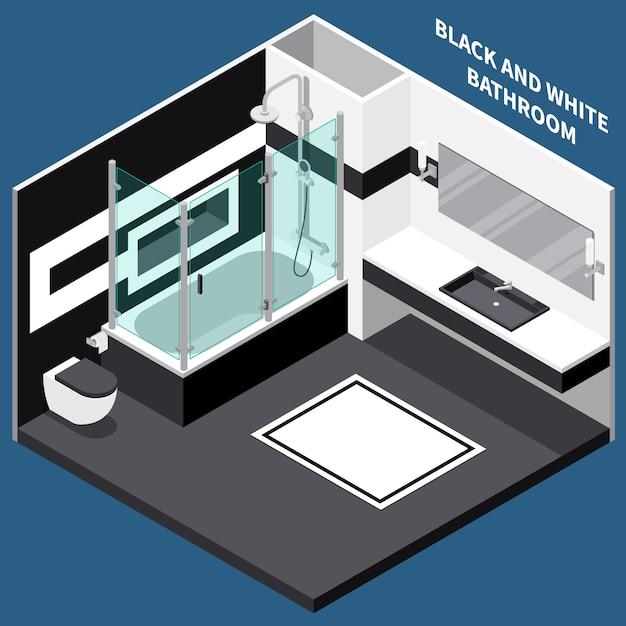 Composição isométrica de sala de banho Vetor grátis
