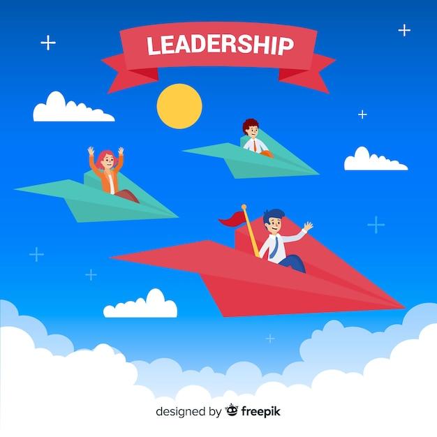 Composição original de liderança com aviões de papel Vetor grátis