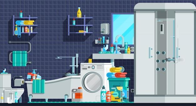 Composição plana ortogonal de ícones de higiene Vetor grátis