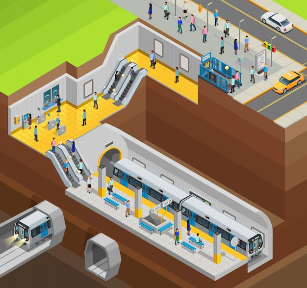 Composição subterrânea do projeto Vetor grátis