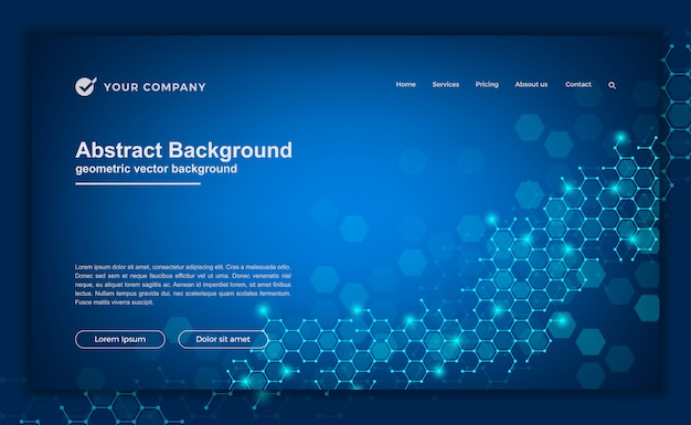 Compostos de fundo para o seu site ou página de destino. Vetor Premium