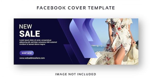 Compra venda banner facebook capa modelo abstrato Vetor Premium