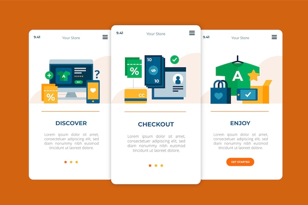 Comprar aplicativo de integração on-line Vetor grátis