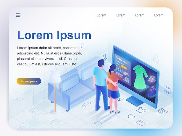 Compras online. Vetor Premium
