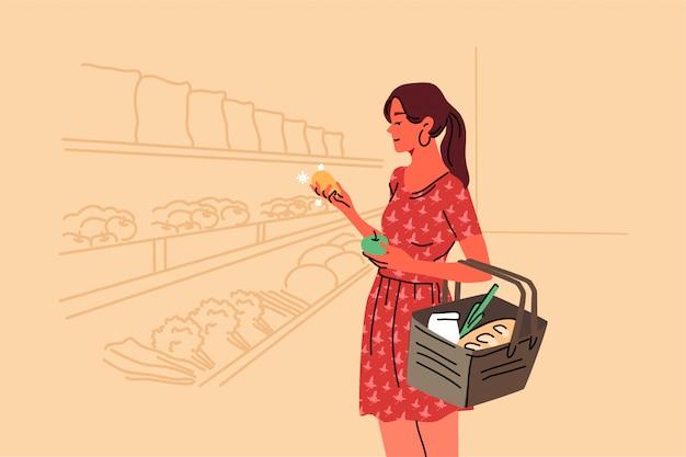 Compras, venda, coice, loja, comprar conceito Vetor Premium