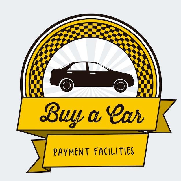 Compre um carro Vetor Premium