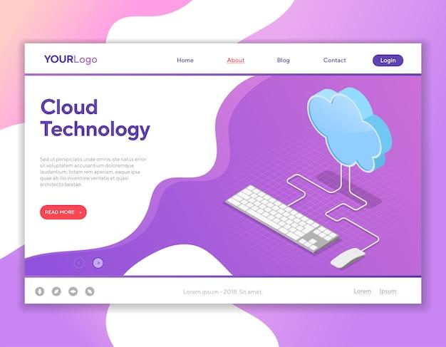 Computação em nuvem Vetor Premium
