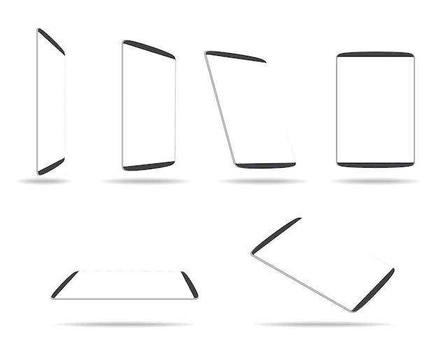 Computador tablet com tela branca em branco Vetor Premium
