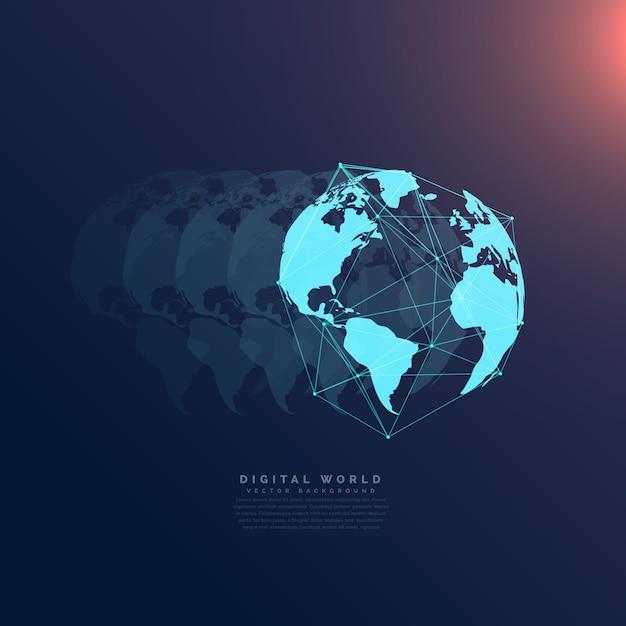 Comunicação da rede mundial da tecnologia digital do conceito do fundo Vetor grátis