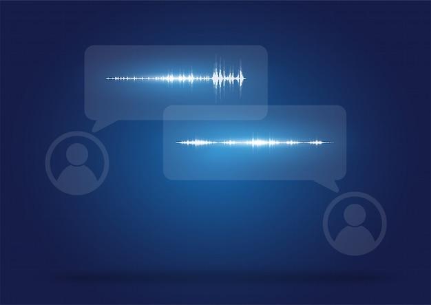 Comunicação de formatos de áudio Vetor Premium