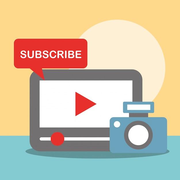 Comunicação de notícias se relacionam Vetor Premium