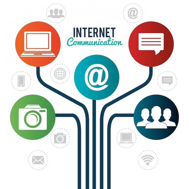 Comunicação pela internet Vetor grátis